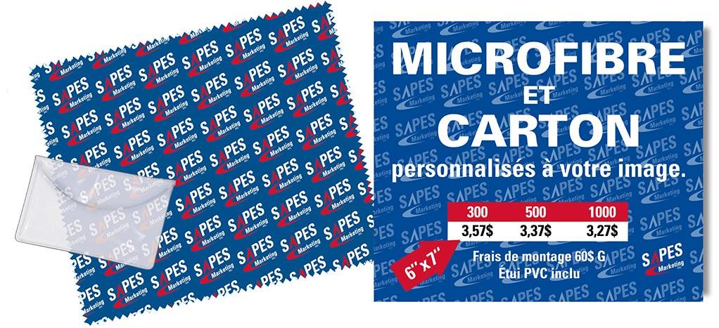 microfibre et carton