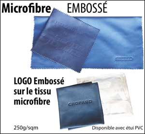 microfibre avec logo embossé