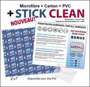 Microfibre carton et 'Stick Clean'