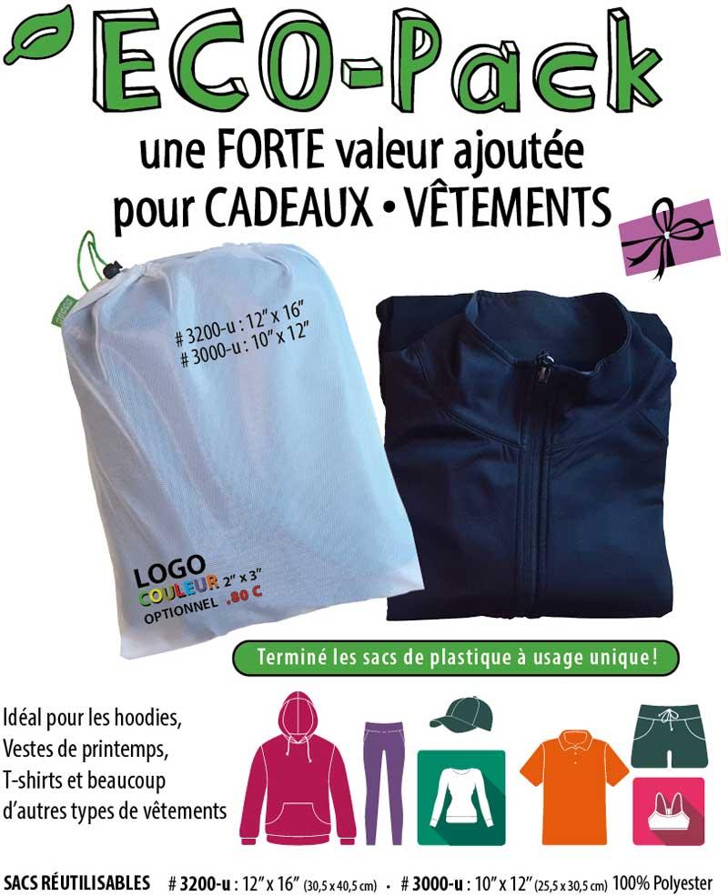 Nouveaux Sacs réutilisables Eco-Pack