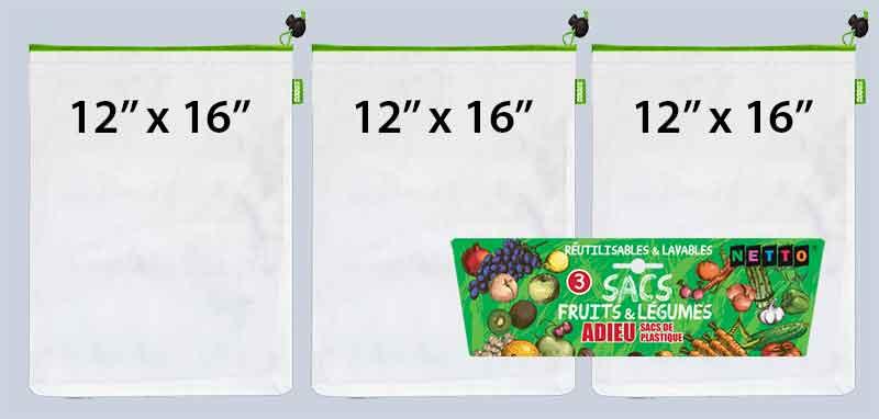 sacs pour fruits et légumes