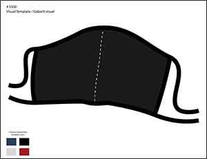 Gabarit de l'item # 5500 couleur noire