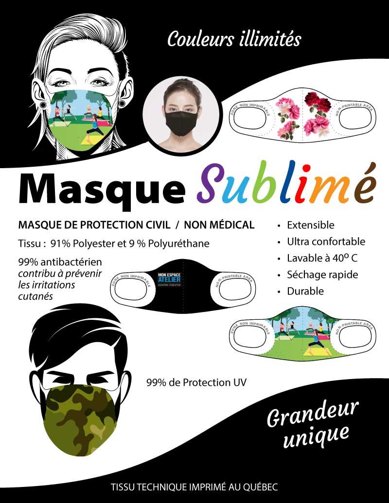 Masque protecteur personnel sublimé