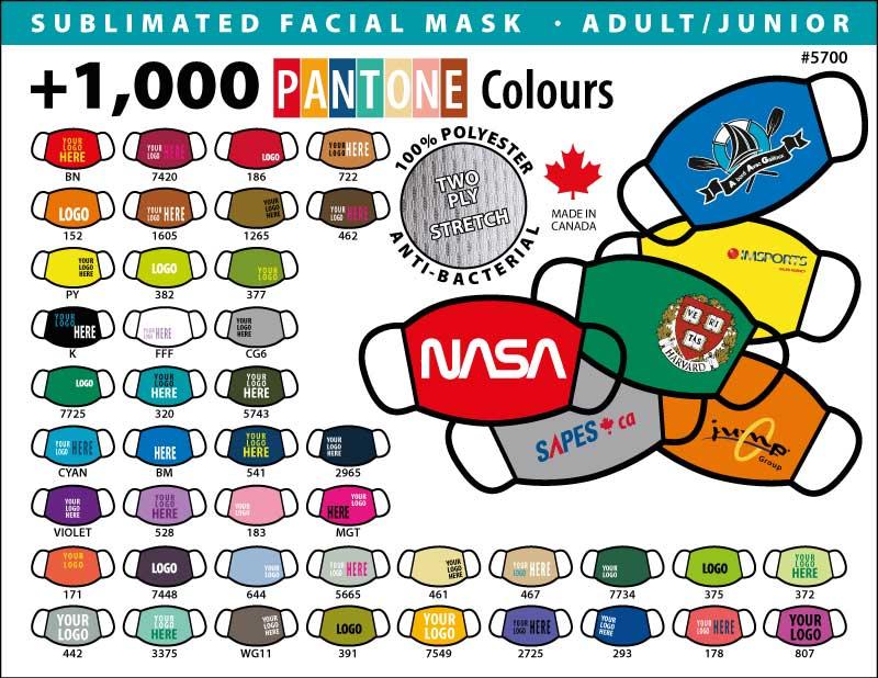 Facial mask 1000 colours