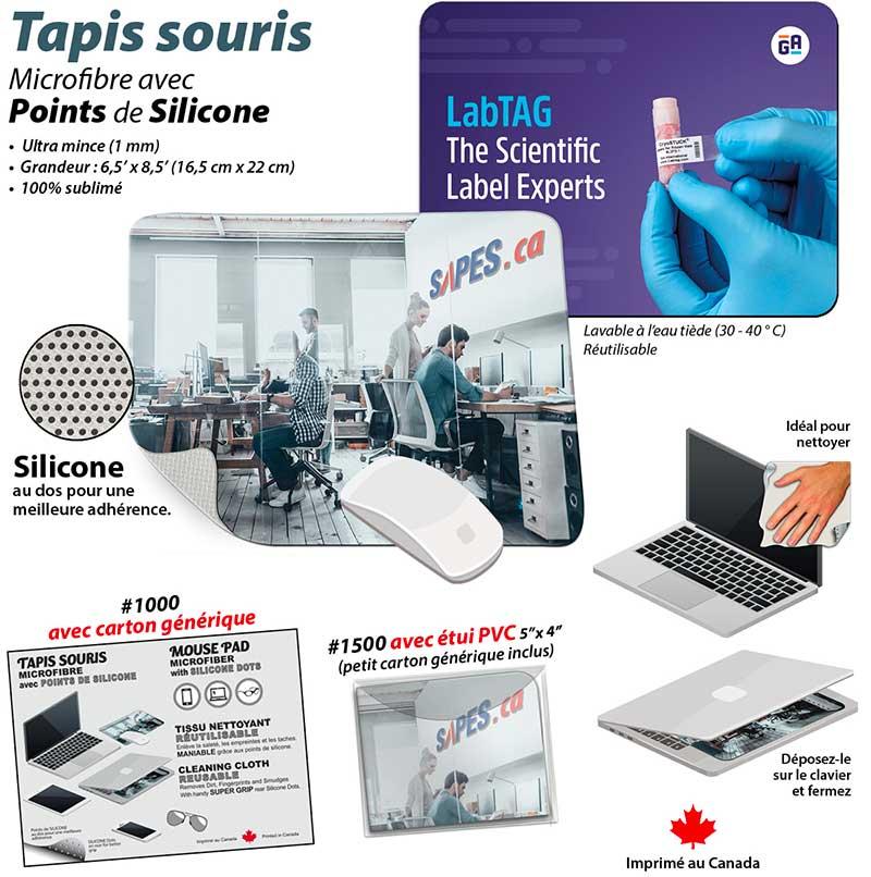 Tapis souris en microfibre