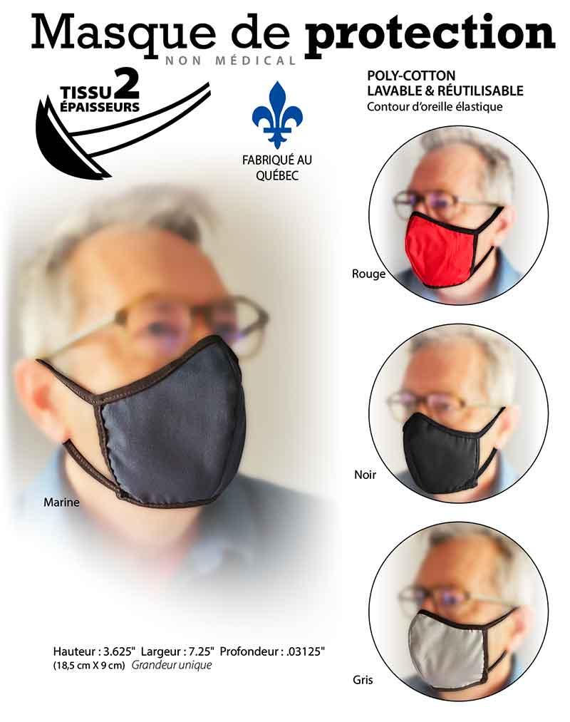 masque fait au Québec