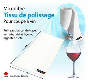 tissue de polissage pour verre à vin